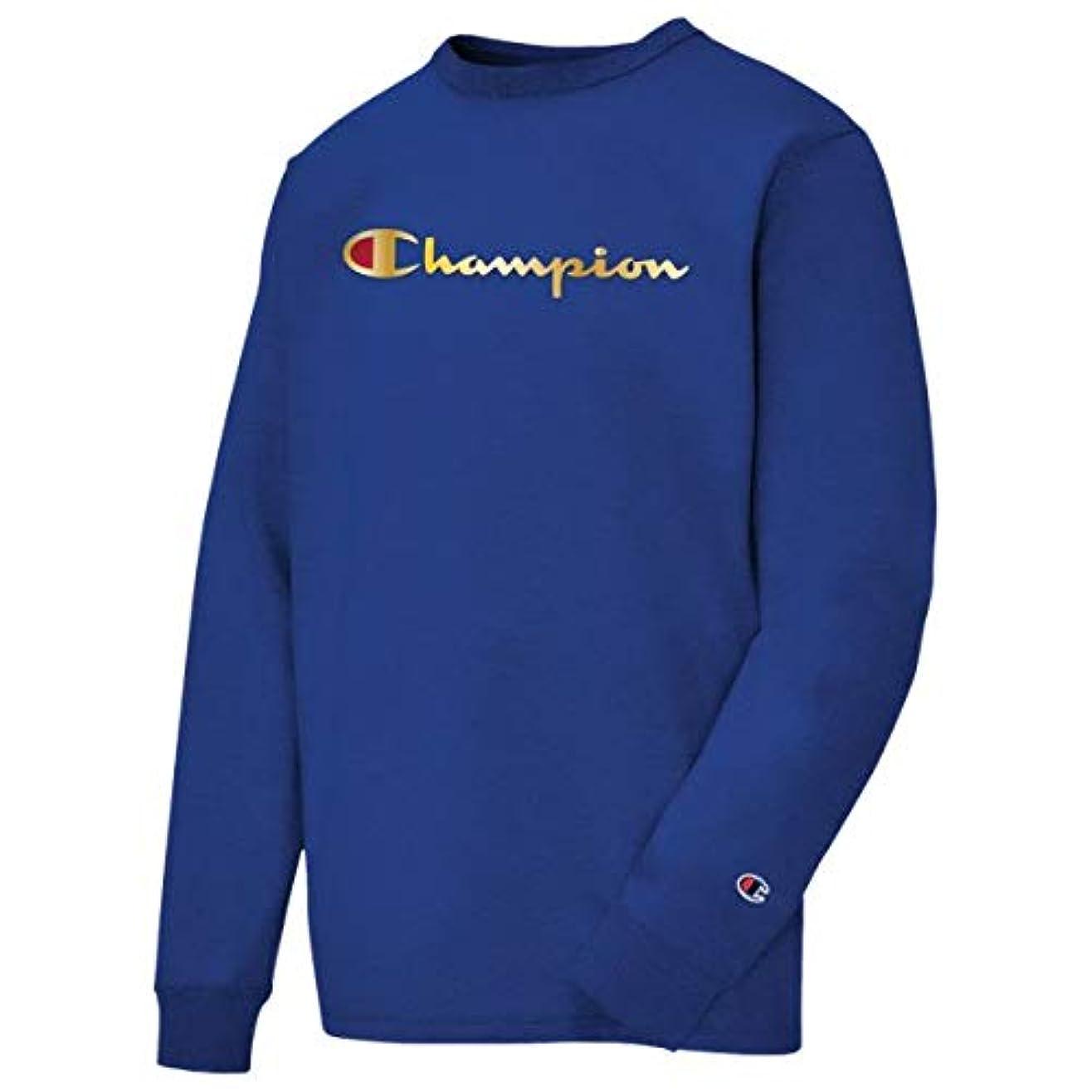 歩行者バット世界に死んだ(チャンピオン)Champion Heritage Gold Script L/S T-Shirt メンズ Tシャツ [並行輸入品]