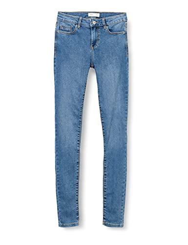 Springfield Jeans Jegging Lavado Sostenible Pantalones, Azul Medio, 42