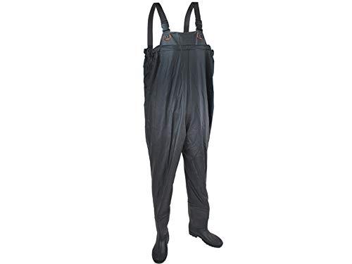 ISO TRADE Wathose Größe 40-46 Anglerhose mit Stiefeln Wathosen Teichhose 408, Größe:44