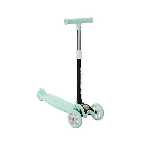 HUIHUAN Scooter para niños 3 ruedas de altura ajustable Kids Scooter para niños y niñas 3-12 Enviar el mejor regalo para niños,cyan