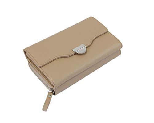irisaa kleine Damen Umhängetasche Schultertasche - Crossbody Handtasche Geldbörse Handytasche Brieftasche Clutch Bag mit Verstellbarem Schultergurt, Damen Tasche:Khaki