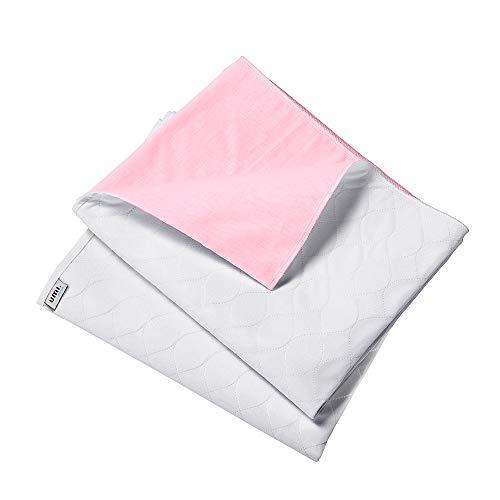 Umi. Essentials Pads Riutilizzabile Lavabile Assorbente Incontinenza Fogli Rosa–2 x 70 x 90 cm