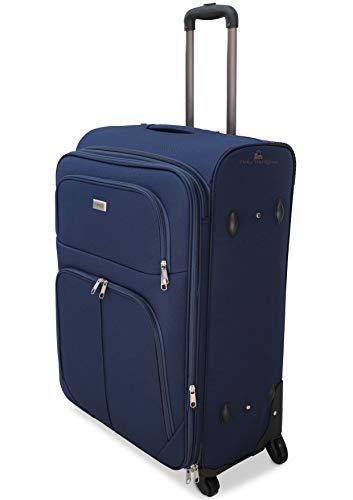 ORMI trolley bagaglio a mano da cabina piccolo medio grande extra large XXL 4 Ruote (Blu, M (55x22x38))