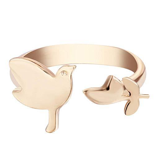 Axiba Ring Ringen Groen Zink Legering beleefd duif laat zoete meisje ring sturen vrienden familieleden verjaardag afstuderen Cadeau-Geef het aan iemand die je houdt