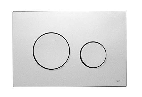 Gris TECE 9240401 Now Plaque de commande pour WC Chrome brillant, technique /à deux niveaux, utilisable par haut et avant