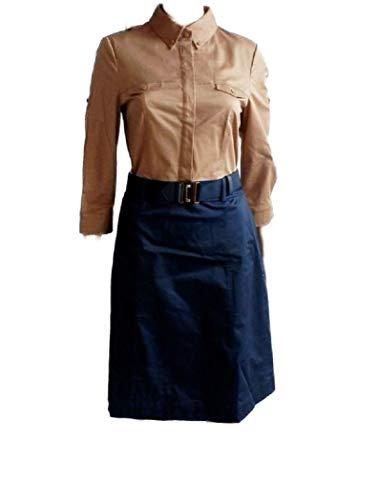 Esprit dames lange mouwen jurk beige blauw Gr. 40 nieuw!!! (40,19 A 1949 H)