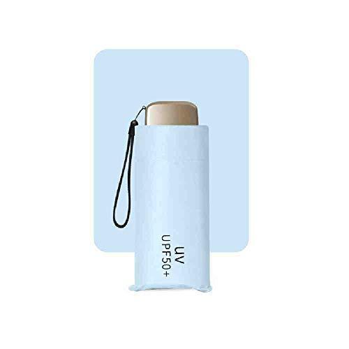BJDKF paraplu Mini opvouwbare paraplu kleinste Pocket grootte Parasol lichtgewicht zon regen Reizen Solid Zwart Blauw Roze Geel Brolly