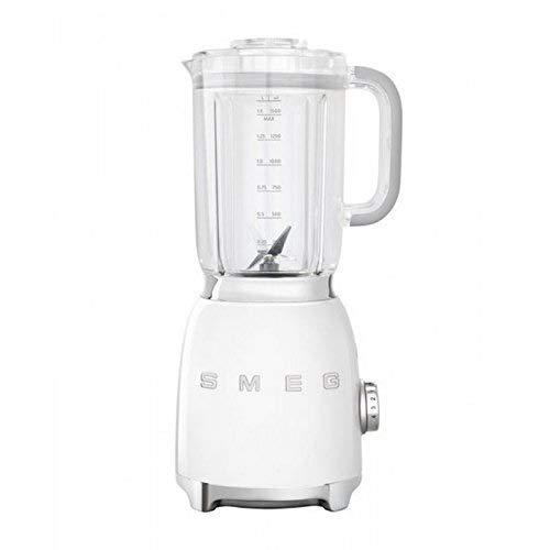 Smeg Batidora de Vaso BLF01WHEU Color Blanco, 800 W, 1500 milliliters, Plástico, 4 Velocidades