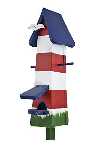Die Vogelvilla, Futtertürmchen Spezial Leuchtturm, Futterhaus, Vogelhaus