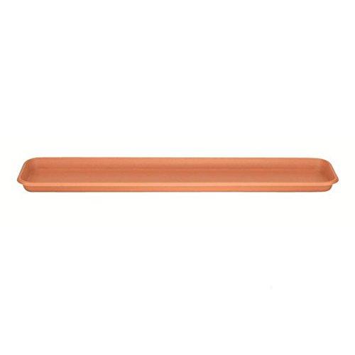 Stewart 2065034 Sottovaso per Fioriera, 80 cm, Plastica Marrone (Terracotta)
