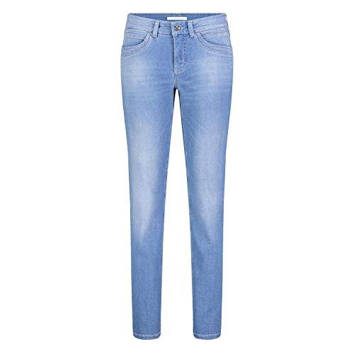 MAC Jeans Damen Angela New Jeans, D464 Light Blue Authentic wash, 42/32
