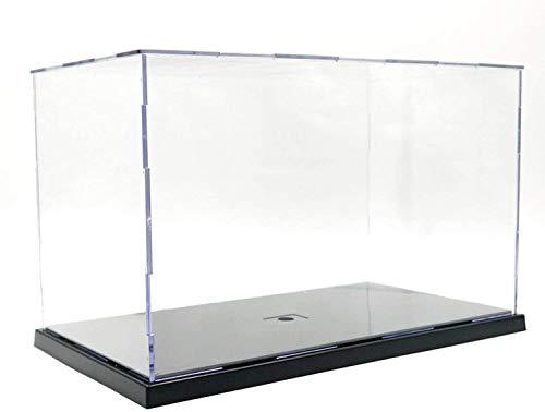 ELEpure Caja de exhibición acrílico Transparente para colección de Modelo Lego, Caja de presentación Caja de Almacenamiento a Prueba de Polvo con Base para Mini Figura de Juguete (31x17x19cm)