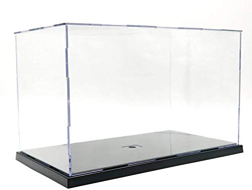 PURETech Caja de exhibición de acrílico Transparente para colección de Modelo Lego,  Caja de presentación Caja de Almacenamiento a Prueba de Polvo con Base para Mini Figura de Juguete (31x17x19cm)