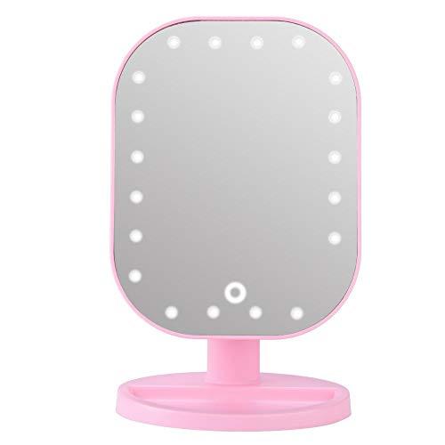 Cadeaux de mai Longue Pression Gradation Multi-Angle 10 Fois grossissant Miroir de Manipulation 10X, Miroir d'écran Tactile, éclairage LED pour Les Amateurs de Maquillage Maquilleur Professionnel