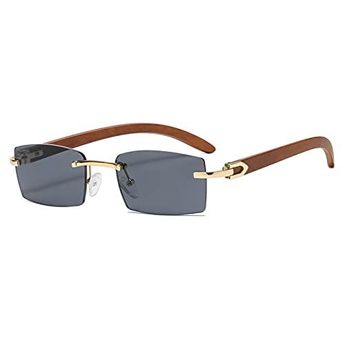 LUOXUEFEI Gafas De Sol Gafas De Sol Rectangulares Para Hombre, Gafas De Sol Sin Montura, Accesorios Para Mujer, Azul, Marrón, Rosa, Cuadrado Al Aire Libre