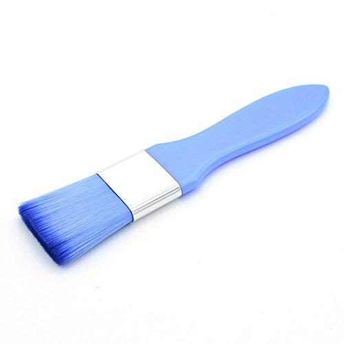 Kit cosmétique de maquillage de brosse de mélange de masque facial de boue de visage de poignée colorée (Bleu)