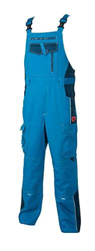Vision ARDON Arbeitshose Herren Latzhose Professionelle, Schutz für Monteure, Gärtner, Mechaniker, mit Reißverschlusstaschen, leichte Schutzkleidung; Blau (54)
