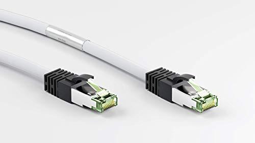 goobay Patchkabel CAT8.1 S/FTP (PiMF) Kabel, weiß, 25cm, 0,25 Meter