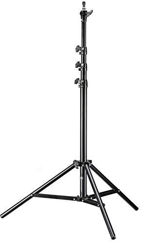 Bresser BR-TP240 Soporte de luz de aluminio de 223 cm con sistema de suspensión neumática