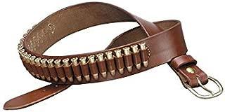 TRIPLE K 10024 100 Heavy Saddle Leather Pistol Cartridge Belt, Walnut Oil, Plain Finish