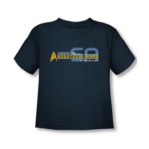 Star Trek - - J'ai survécu à tout-petits T-shirt dans la Marine, 2T, Navy