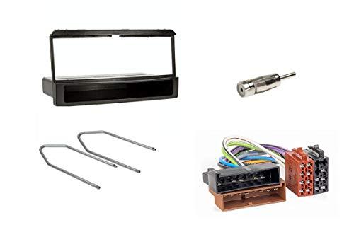 Audioproject A152 - Radioblende Set 1-DIN kompatibel mit Ford Focus Mondeo Galaxy Fiesta Cougar Ablagefach + Radioadapter + Antennenadapter + Entriegelungsbügel Auto-Radio Blende schwarz