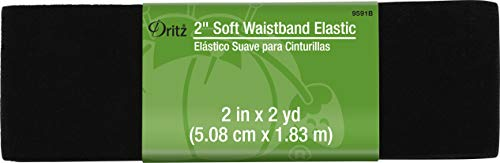 Dritz Notions Black Elastic Soft Waistband 2', 2'