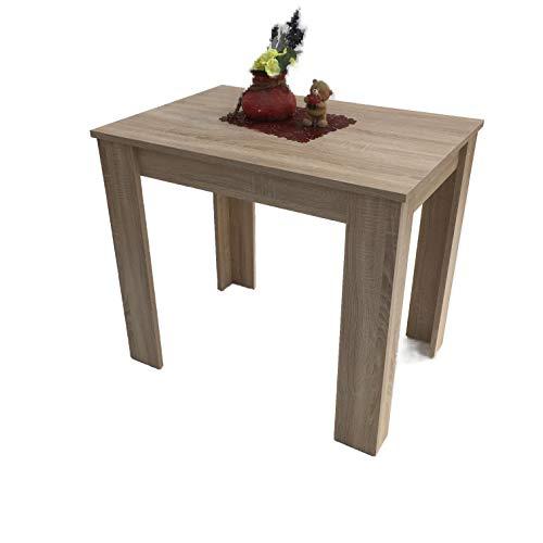 Möbel SD Esszimmertisch Küchentisch Sonoma Eiche hell Sägerau 86x60cm