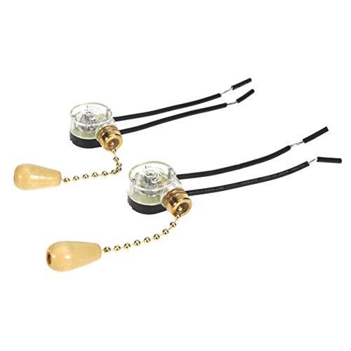 Yardwe luz de techo lámpara ventilador extracción cadena interruptor de reemplazo (dorado)