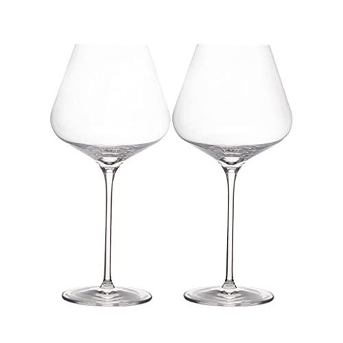 LYLY Copas de vino de cristal sopladas a mano, embalaje de regalo para cualquier ocasión, sin plomo, vidrio transparente de alta calidad, juego de 2/6 copas de vino (color 710 ml*2)