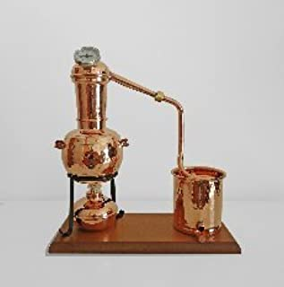 Noble Copper Traditional Copper Still 0.7L with Thermometer and wooden base