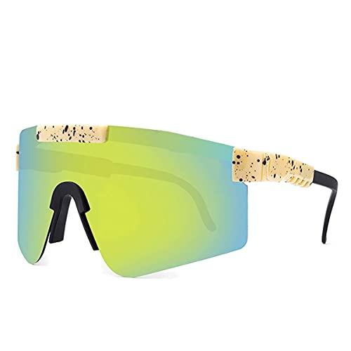 MAVL Gafas de sol cuadradas polarizadas polarizadas para mujeres y hombres - Protección UV color Mirror Lens- Retro Sports playa (color: C15)