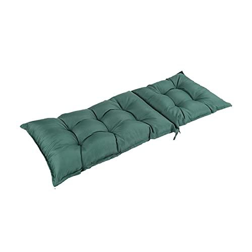 Bidet Pastillas de cojín de tumbonas, reclinador de cojín Largo 120x50x8cm reclinable Suave cojín de Espalda Plegable espesante Silla de jardín jardín jardín Largo Estera