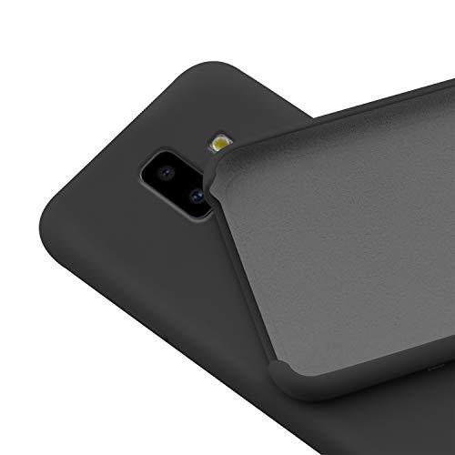 N NEWTOP Custodia Cover Compatibile per Samsung Galaxy J6 Plus (2018), Ori Case Guscio TPU Silicone Semi Rigido Colori Microfibra Interna Morbida (Nera)