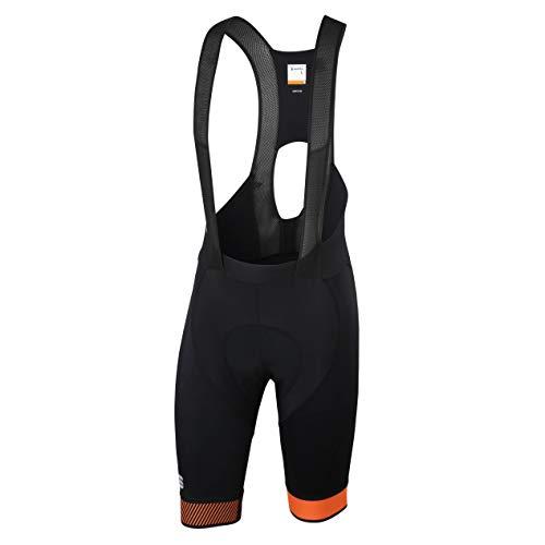 Sportful Bodyfit Pro 2.0 LTD Salopette da uomo, taglia S, colore nero/arancione