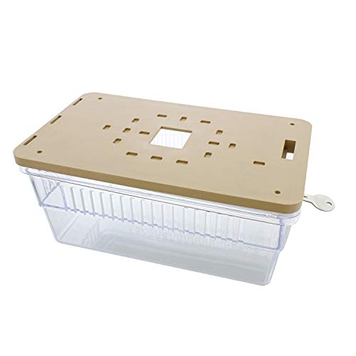 BISupply AC Thermostat Cover with Lock, AC Thermostat Lock Box Cover Thermostat Guard with Lock – 9.9 x 4.1 x 6.1 Inch