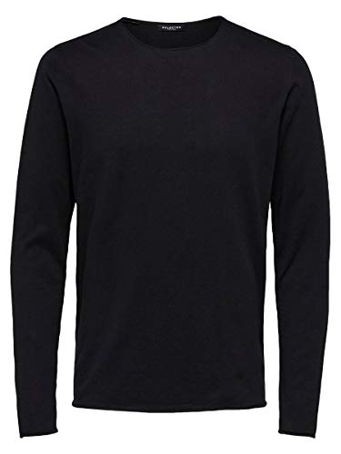 SELECTED HOMME Male Pullover Crew Neck- XLBlack