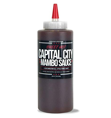 Capital City Sweet Hot Mambo Sauce - A Washington DC Wing Sauce (12 oz); Perfect for wings, chicken, pork, beef, and seafood