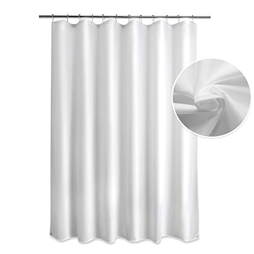 Titanker Fabric Shower Curtain Liner, Waterproof Bathroom Shower Curtain with 2 Magnets, Polyester Shower Curtains Bathroom 85GSM Shower Curtain...