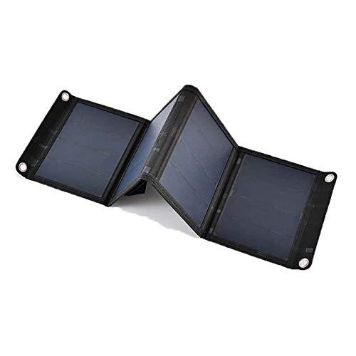 Wgwioo Puertos USB Portátiles, Plegable, Impermeable, Cargador De Paneles Solares Al Aire Libre, para Teléfono Inteligente, Tableta, Cámara, Ventilador, Luz, Banco De Energía