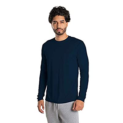 Vapor Apparel Men's UPF 50+ UV Sun Protection Long Sleeve Performance T-Shirt for Sports and Outdoor Lifestyle, Large, Navy