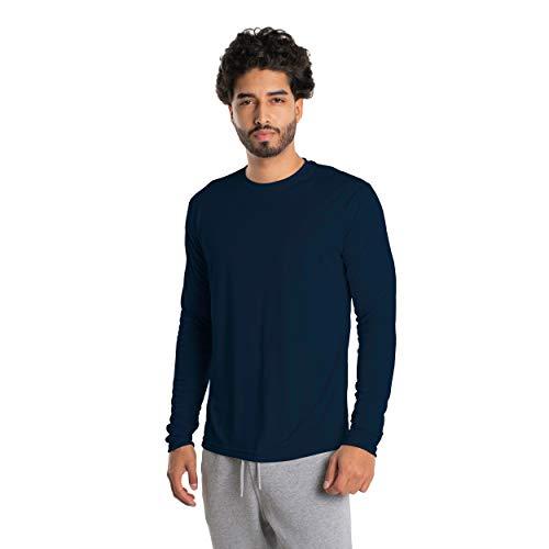 Vapor Apparel Men's UPF 50+ UV Sun Protection Long Sleeve Performance T-Shirt for Sports and Outdoor Lifestyle, Medium, Navy