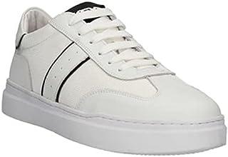 Keys Scarpe Uomo Sneakers in Pelle Bianca e Nera 4601-WHITE