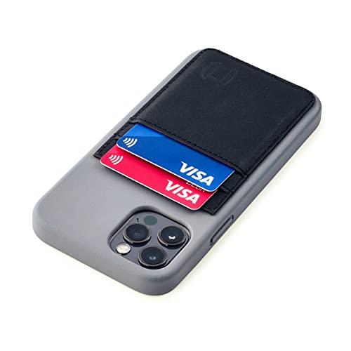 Dockem Bio - Funda Tipo Cartera para iPhone 12 y 12 Pro: Materiales Sensibles, Montaje Magnético y 2 Ranuras para Tarjetas de Crédito (6.1' M2B, Gris y Negro)