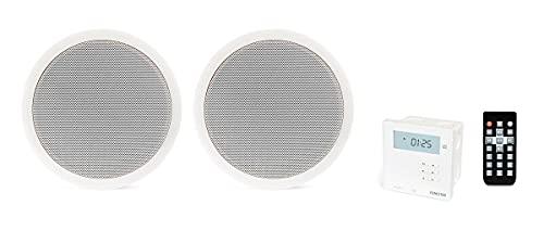 Fonestar Kit audio di installazione a soffitto Bluetooth, con lettore USB/MicroSD/MP3, Radio FM, Mod. KS-06