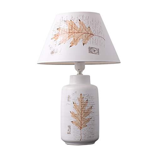 SHUTING2020 lámpara de Mesa Lámpara de Mesa de cerámica, Lámpara de mesita de Noche, Diseño Elegante, Cuerpo de lámpara de cerámica de Alta Temperatura (Blanco) Lámpara Noche (Color : A)
