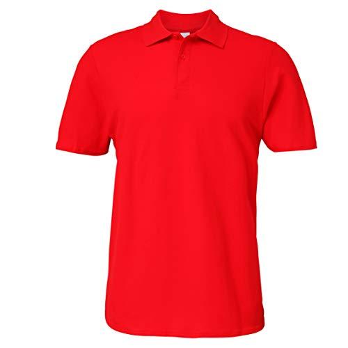 Gildan Poloshirt Softstyle Pique Polo Shirt M L XL 2XL 3XL 4XL Ringspun Baumwolle (Rot, 4XL)