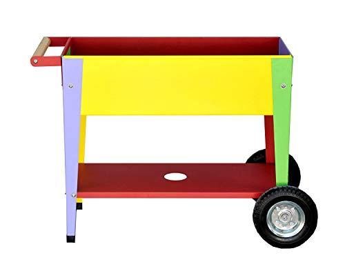 Herstera 08935001 Hochbeet mit Rädern Kids, Multicolor, 35 x 75 x 65 cm