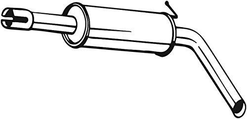 Mittelschalldämpfer (1220-2333) Dämpfer Abgasanlage Auspufftopf