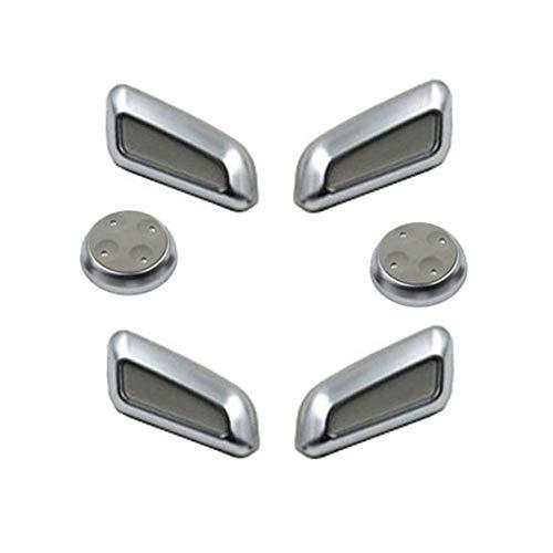 RJJX 6pcs / Set Negro/Gris/Beige ABS Cromado Asiento Perilla de Ajuste del Interruptor de botón for Audi A4 A5 A6 A4L A6L A7 Accesorios Q5 Q3 (Color : Grey)